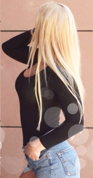 #613 Bleach Blonde Straight Hair Weft