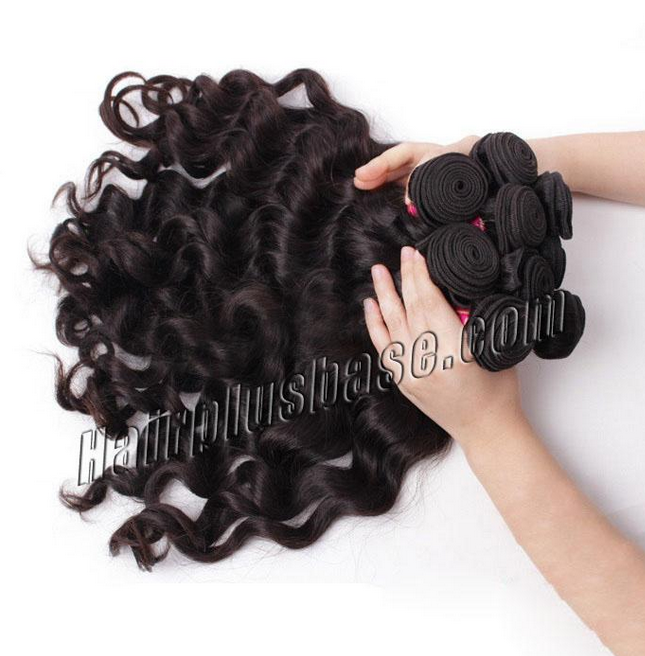 Brazilian Virgin Hair Body Wave #1B Natural Black 10 Pcs Luxurious Lot