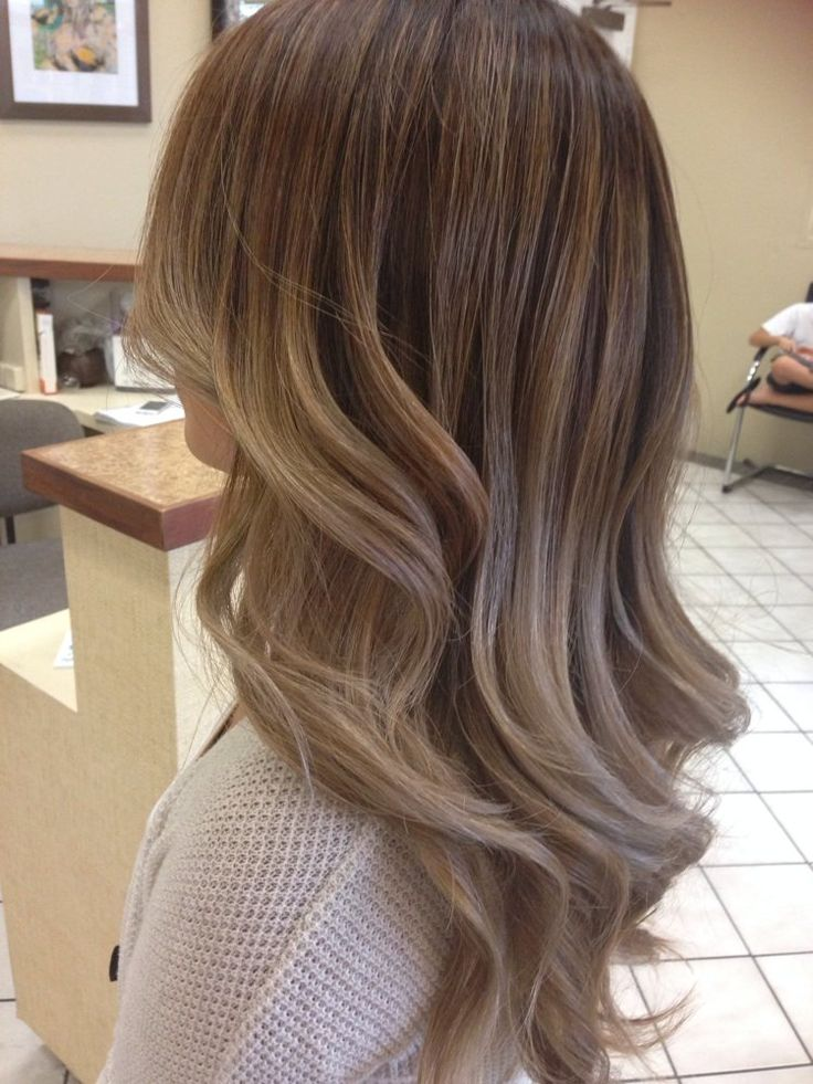 ash blonde balayge with a chocolate brown base