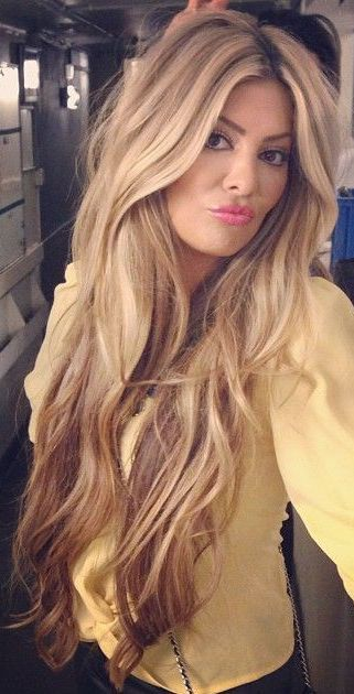 ash blonde blend long hair