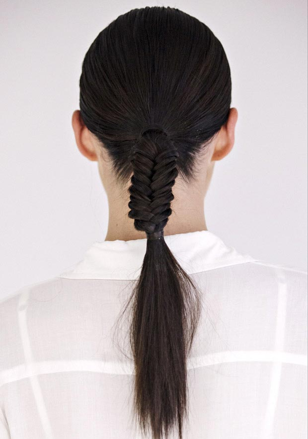 Low-Half-Fishtail-Ponytail