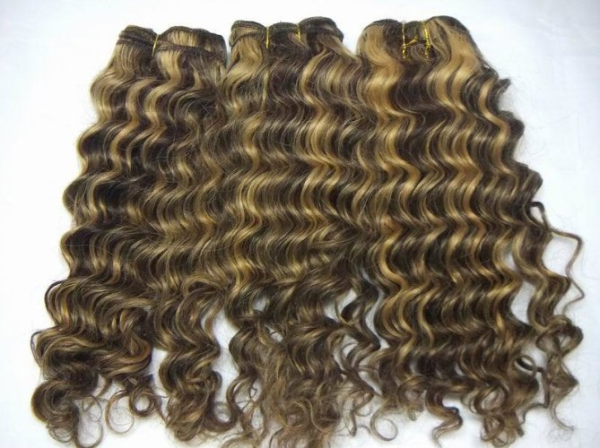 #4 and #27 mixed curly hair extensions