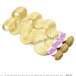 "12 ""-34 "" Brazilian Remy Hair Boday Wave #613 Bleach Blonde Different Hair weft"