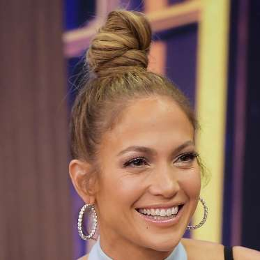 6. Jennifer Lopez's Sky-High Top Knot