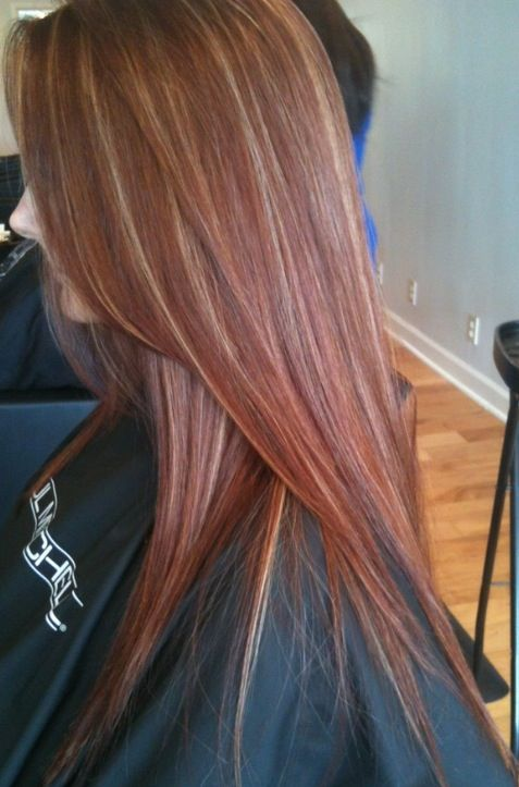Auburn with a bit of blonde highlights