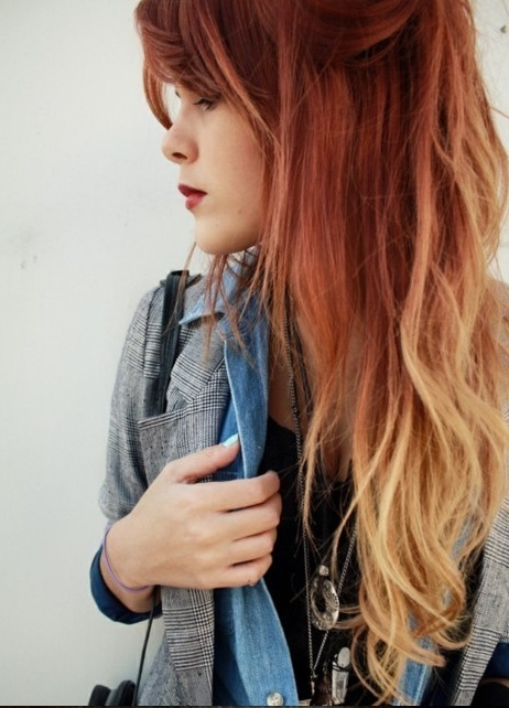 copper blonde ombre hair color