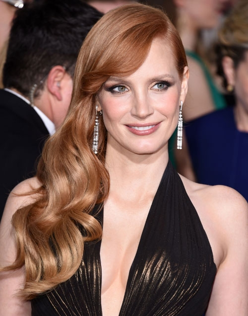 jessicachastain long and voluminous hair