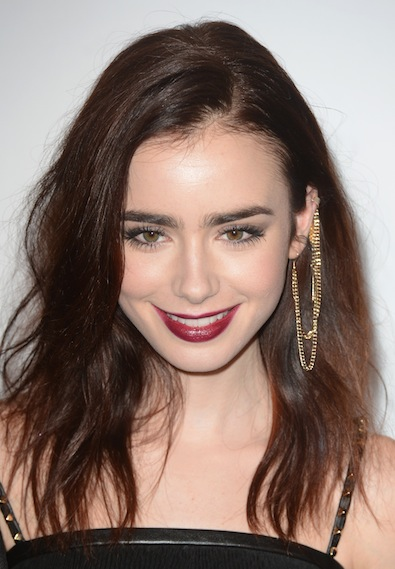 Lily Collins at the British Fashion Awards at The Savoy, London, England- 27.11.12 Credit: (Mandatory): WENN.com
