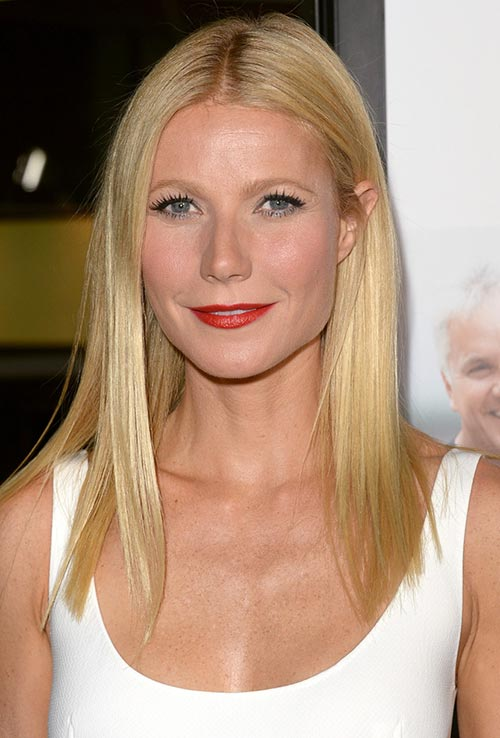 parted from the middle Gwyneth_Paltrow