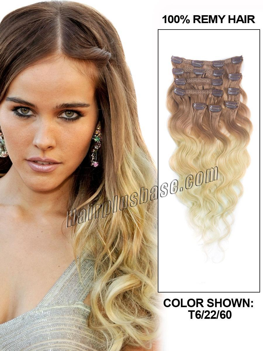 20-inch-fancy-three-colors-ombre-clip-in-indian-remy-hair-extensions-body-wave-9pcs-22337-tv
