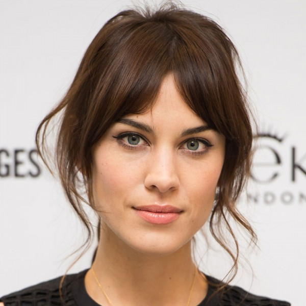 perfect middle part bangs